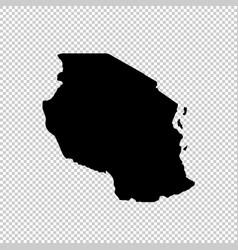 Map tanzania isolated black vector