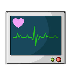 medical monitormedicine single icon in cartoon vector image
