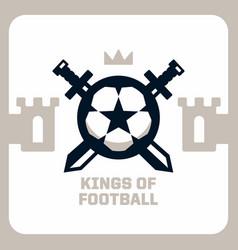 modern professional emblem king football vector image