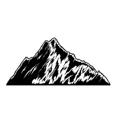 mountain in engraving style design element vector image