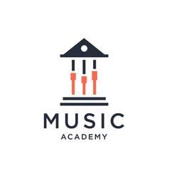 Music academy logo design vector
