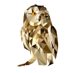 Owl polygon geometric vector image