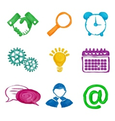 Paint business icons vector image