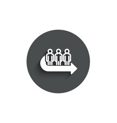 Queue simple icon people waiting sign vector