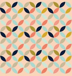 retro geometric circles on pinkseamless pattern vector image