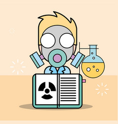 Science laboratory research vector