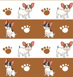 Seamless design with a dog vector