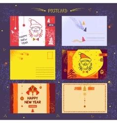 Set post card vector