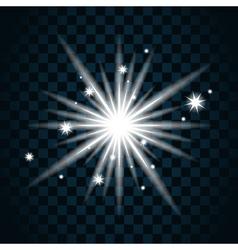Shine star sparkle icon 11a vector image