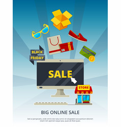 shopping online by products on website mobile app vector image