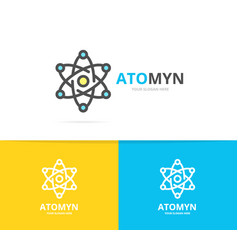 simple atom and molecule logo design template vector image