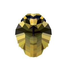 Snake head low poly style for design vector