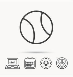 Tennis icon sport ball sign vector