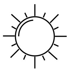 the sun icon vector image