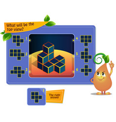 Top view game educational vector