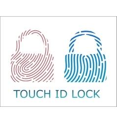 touch fingerprint id lock app vector image