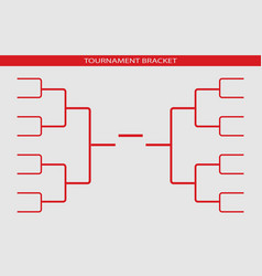 Tournament bracket championship template vector