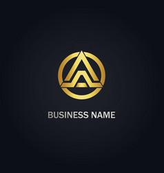Triangle a initial company logo vector
