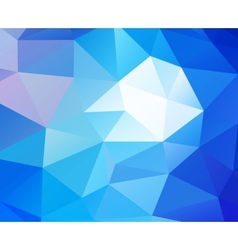 Triangular blue background vector image