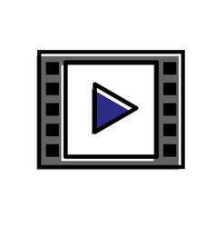 video player web digital social media vector image