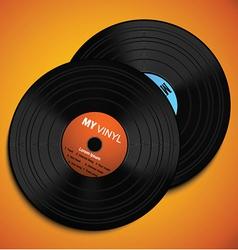 Vinyl design vector