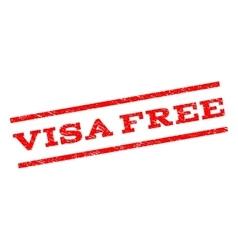 Visa Free Watermark Stamp vector