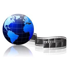 world and video vector image