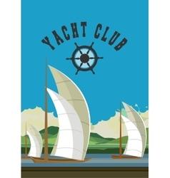 Yacht club flyer vector image