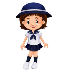 young kid in school uniform vector image