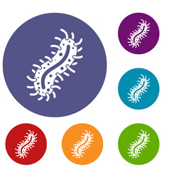 cell of dangerous virus icons set vector image vector image