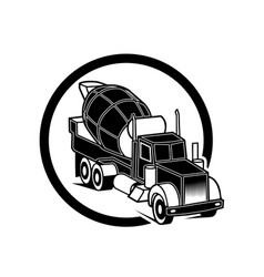 image of a black pickup truck in a realistic style vector image