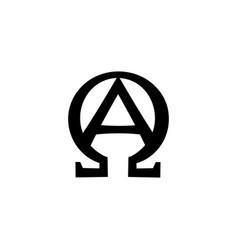 monogram of biblical phrase - i am alpha and omega vector image vector image