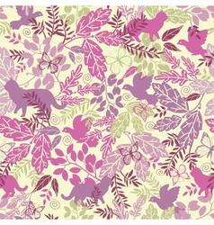 Wildlife seamless pattern background vector image
