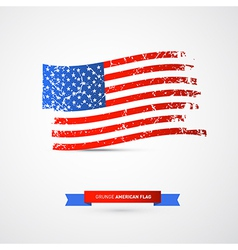 American Flag - Dirty Grunge vector image vector image