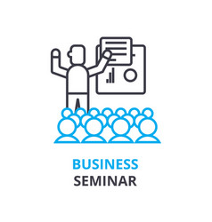 business seminar concept outline icon linear vector image