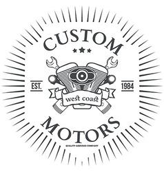 Custom motor t-shirt print design vector image vector image