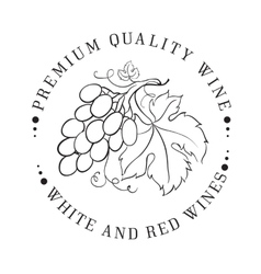 Design of logo for wine vector image vector image