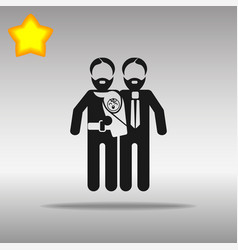 gay parents with child vector image