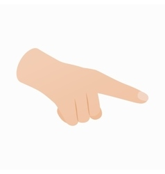 Pointing hand gesture icon isometric 3d style vector image vector image