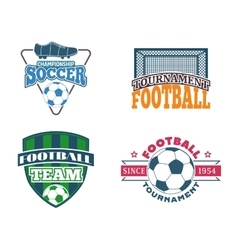 Soccer sign set vector image