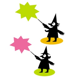 witch and wizard vector image