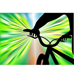 bicycle ride vector image