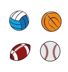 color diferents plays balls icon vector image vector image