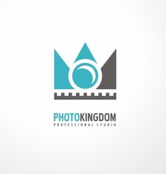 Creative logodesign concept for photography studio vector image vector image