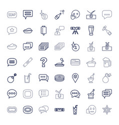 49 bubble icons vector
