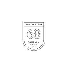 60 years anniversary celebration your company vector