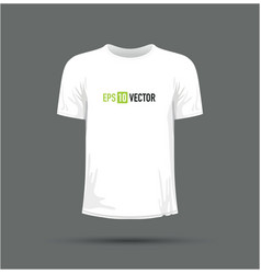 A white t-shirt vector
