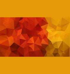 abstract irregular polygonal background red yellow vector image