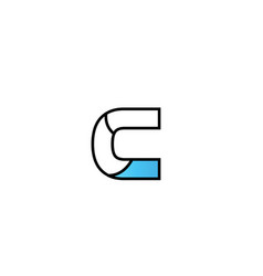 Black blue alphabet letter c logo company icon vector