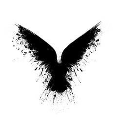 black grunge raven vector image